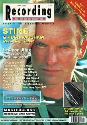 1993 05 Recording Musician cover.jpg